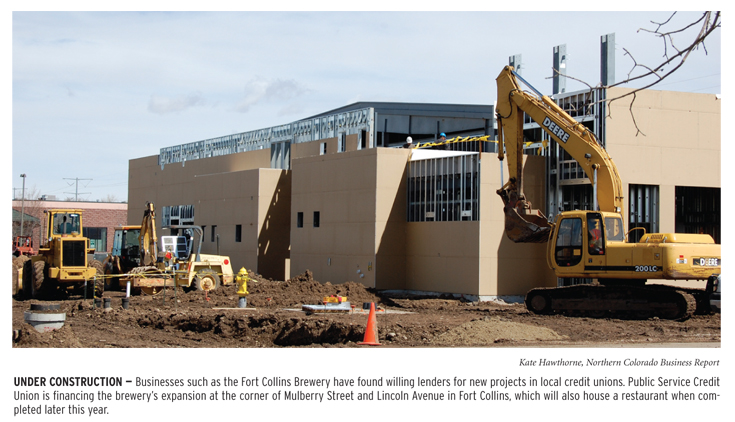 Fort Collins Brewery under construction